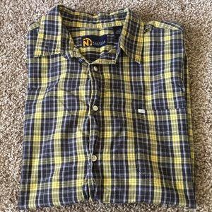 Nautica XL Plaid Button Up Shirt Short Sleeve